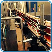linea di produzione bottiglie
